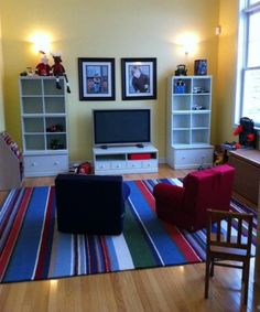Five Kids' Playroom Ideas To Inspire - great ideas for playrooms and organisation of toys!