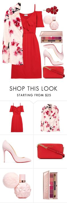 """""""Valentines Day Outfit"""" by alyssatama ❤ liked on Polyvore featuring Paul & Joe, Christian Louboutin, MICHAEL Michael Kors and Estée Lauder"""