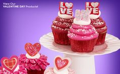 Valentine Assortment Stacked Cupcake Rings
