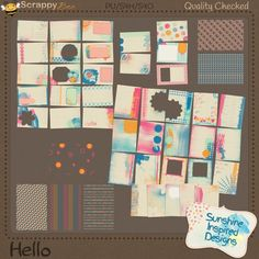 This artsy and colorful journaling cards pack includes 40 pocket cards: twenty 3x4 and twenty 4x6, in addition to that you will find six 4x6 overlays. These artsy cards are perfect to document your everyday life moment in your pocket page layouts.    You can use these cards in your digital scrapbooking and pocket pages projects.