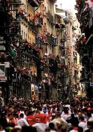 "I've been to Pamplona a number of times (during San Fermin) ...love the energy! ""Ginn"""