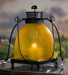 Yellow Glass Lantern
