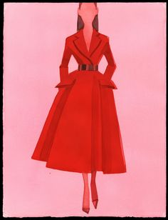 dior illustrations by mats gustafsons