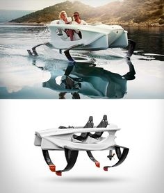 Quadrofoil is an electric hydrofoiling personal watercraft, which provides the most economically efficient and completely environmentally friendly mode of recreational marine transportation. Due to hydrofoiling and patented steering technology, riding feels like flying onwater and provides an en