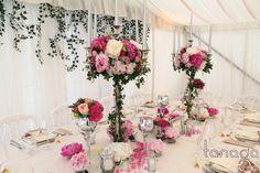 Centre de table avec chandelier trop beau!