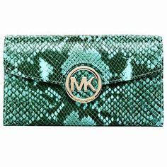 MICHAEL Michael Kors Fulton Python-Embossed Leather Carryall AQUA Michael Kors. $126.99
