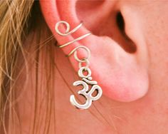 Om Ear Cuff by BarbedLotusDesigns on Etsy, $8.00