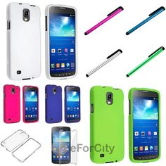 Rubber Hard Case Cover for Samsung Galaxy S4 Active i9295 + Clear LCD +  Stylus 60582c7a7f7