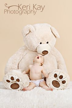 Baby, stuffed bear, Keri Kay Photography