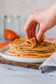 3-ingredient tortillas made from red lentils #vegan #lentils #lowcarb #tortillas