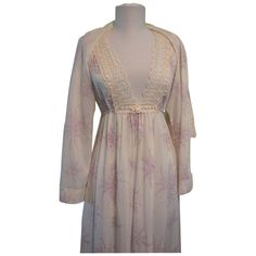 Dior Christian Nightgown Bedjacket Set 1970s Lace size Petite @Graceful Antiques & Vintage Collectables on Ruby Lane  #RubyLane #vintage #lingerie #Dior #designerLingerie #peignoirSet