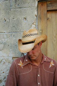381b0b7d4948c Rt 66 Cowboy Raffia Hat. Western ...