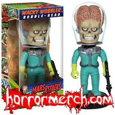 Mars Attacks - Alien Bobblehead at Horrormerch.com - http://horrormerchstore.com/Mars-Attacks-Alien-Bobblehead.html