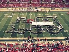 Holy crap. Click this link and watch everything! Ohio State marching band making HUGE shapes! Ah!
