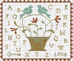 With thy Needle & Thread: Free Cross Stitch Pattern!