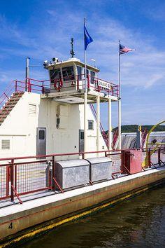 Title  Merrimac Ferry - Wisconsin   Artist  Steven Ralser   Medium  Photograph - Photography @ralser