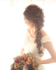 色っぽ可愛くなれる髪型だから最強♡〔サイドダウン〕のブライダルヘアカタログ*   marry[マリー] Bridal Hairdo, Kids Frocks, Japan Fashion, Hair Art, Wedding Hairstyles, Stylists, Hair Beauty, Flower Girl Dresses, Hair Accessories