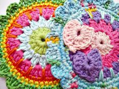 Colorful Medallion Crochet Pattern by wonderfulhands on Etsy, $4.90
