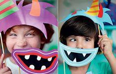 Para deixar o encontro dos pequenos ainda mais animados, máscaras de papel