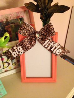 Sorority Big / Little sister Gift Picture Frame by InspiratioNotes, $6.50