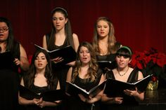 McAuley's A Capella Choir, made up of sophomores-seniors, performs during the Christmas Concert.