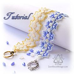 This is a tutorial pattern in PDF format. You are not purchasing the Whimsical bracelet with this listing.  DiamonDuos mix really well with many of the other two-hole beads available. Here I have used Honeycomb beads to make a simple yet stunning bracelet. Flat on one side, faceted on the other, DiamonDuo beads give a lovely lift and soft highlights to your projects. MATERIALS: A - 2g size 11 seed beads B - 10g DiamonDuo beads C - 17 Honeycomb beads Toggle clasp Size 11 or 12 beading needle…