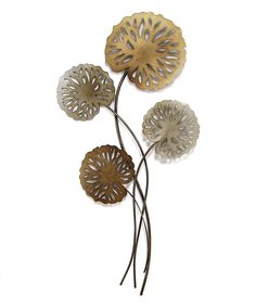 This Metal Water Lilies Wall Decor by Stratton Home Décor is perfect! #zulilyfinds