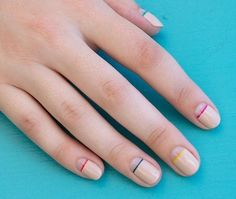 nail art minimalista - Modices