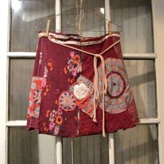 handmade upcycled jersey knit funky day skirt / wrap skirt / by CreoleSha