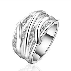 Encontrar Más Anillos Información acerca de Caliente venta! envío 925 anillo de plata moda joyería de plata esterlina, crystal line anillo SMTR572, alta calidad joyería wholesa, China joyería de dibujos animados Proveedores, barato joyas de adorno de rui jia's store en Aliexpress.com