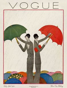 Spring Rain (April 1924) UK Edition of VOGUE (Price: One Shilling)