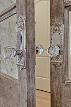 Glass door knobs dress everything up.