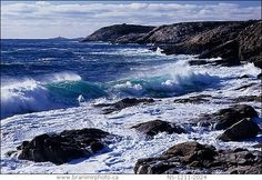Stormy Atlantic ocean along the east coast of Canada...my beautiful home