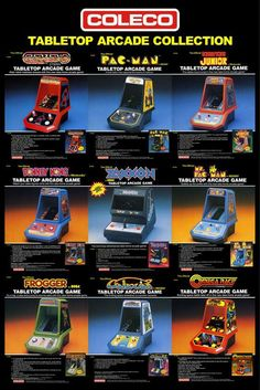 80's Coleco tabletop arcade games!