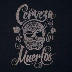 Limited Edition 'Cerveza de Los Muertos' Screen Printed T Shirt. £15.00, via Etsy.