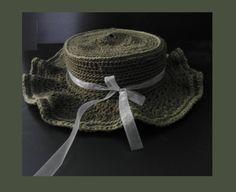 háčkovaný klobouk dámský