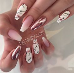 nailsart nails nail nailstagram nailswag nails marmurnails babyboomer chromenails Source b - nails Marble Acrylic Nails, Summer Acrylic Nails, Best Acrylic Nails, Chrome Nails, Matte Nails, Gold Glitter Nails, Rose Gold Nails, Dark Nails, Nude Nails