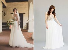 Jackie Wonders Photography/Anna Maier / Brooke Boling Photography/Rachel Gilbert | gold & glitter wedding dresses | SouthBound Bride #weddingdress #sparkle