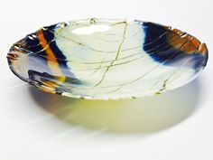 Résultats de recherche d'images pour « how to fuse lace edge glass bowl Fused Glass Plates, Fused Glass Art, Glass Dishes, Stained Glass, Glass Vessel, My Glass, Fusion Art, Kiln Formed Glass, Blown Glass Art