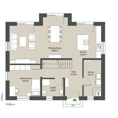 Modern House Floor Plans, House Plans, Town Country Haus, Living Haus, House Rooms, Sweet Home, Flooring, How To Plan, Interior