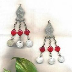 Moroccan Etched Tribal Earrings