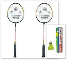 Features of Cosco CB-320 and Aero 737 Nylon Shuttle Cock G5 Strung Badminton Racquet : Ideal For: Boys, Men, Girls, Women, Senior, Junior, Playing Level: Recreational, Beginner, Head Size: 53 sq/in, Beam Width: 20.5 mm.CBX-320 Aluminium Frame. Graphite / Carbon Shaft.T-joint Wide body frame construction with flexible Graphite shaft which provides better control and touch for all levels of players. Very Good Flight. Maximum Control. High Durable Nylon. Cork look Foam.