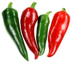 Red and gree chili peppers