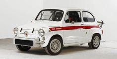 Awwww. Cute little old style Fiat 500 Abarth