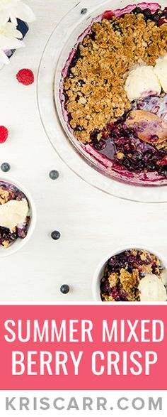 Looking for a #healthy #vegan #dessert ? Check out this #recipe video for my new Summer Mixed Berry Crisp!