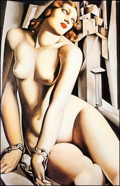artist Tamara Lempicka aka Tamara de Lempicka, (b.May 1898 Warsaw Poland - d. March Cuernavaca, Mexico) was a Polish Art Deco painter. Estilo Art Deco, Arte Art Deco, Moda Art Deco, Tamara Lempicka, Art Deco Stil, Art Deco Movement, Erotic Art, Oeuvre D'art, Art Deco Fashion