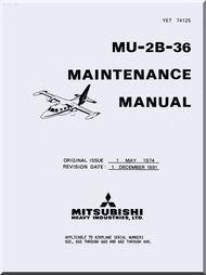Misubishi MU-2B-36 Aircraft  Maintenance  Manual ( English  Language )