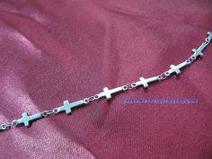 316L Surgical Stainless Steel Cross Anklet