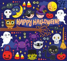 international directory of children's illustrators Art Halloween, Halloween Fonts, Halloween Inspo, Halloween Poster, Halloween 2019, Holidays Halloween, Halloween Themes, Vintage Halloween, Happy Halloween
