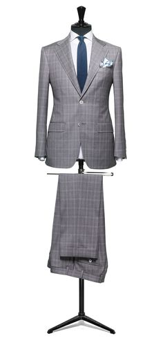 Grey suit Check S130 http://www.tailormadelondon.com/shop/tailored-suit-fabric-4200-check-grey/